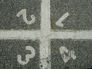 numbers on tarmac